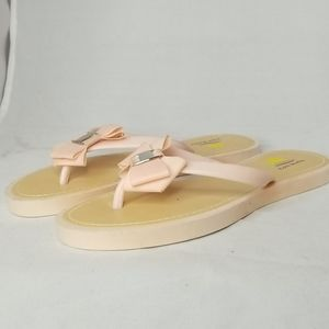 Aloha Island sandals Flip flops pink with bow 10